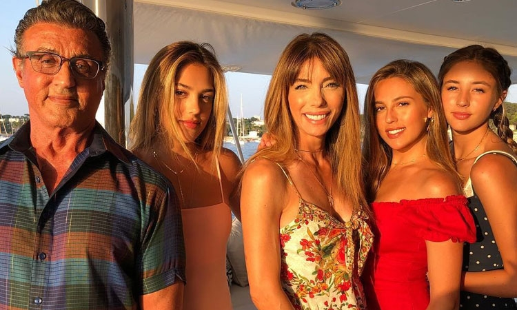 Sylvester Stallone arrives in Croatia for a luxury cruise with his family