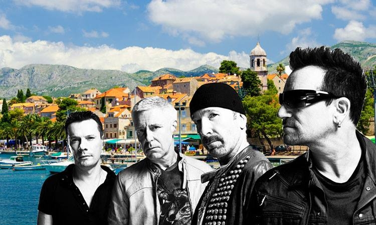 U2 celebrating Edge's birthday in Cavtat