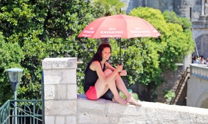 Always a good tip to carry an umbrella in the summer in Dubrovnik