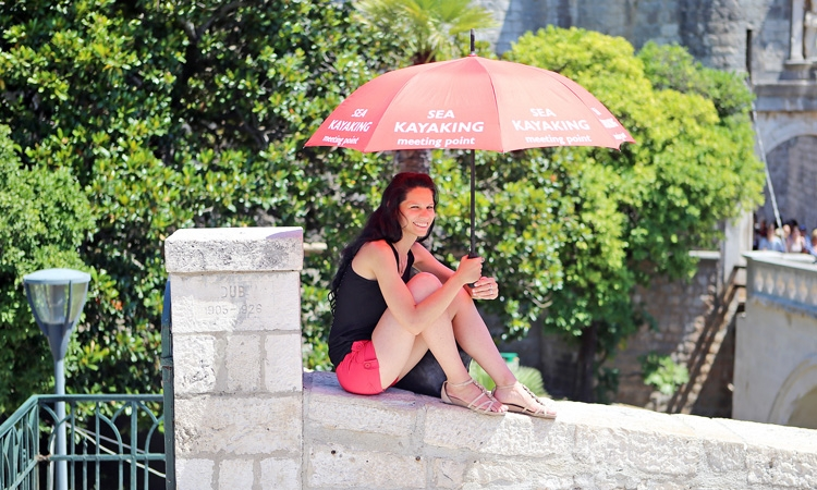 Don't forget your umbrella in the Dubrovnik summer!