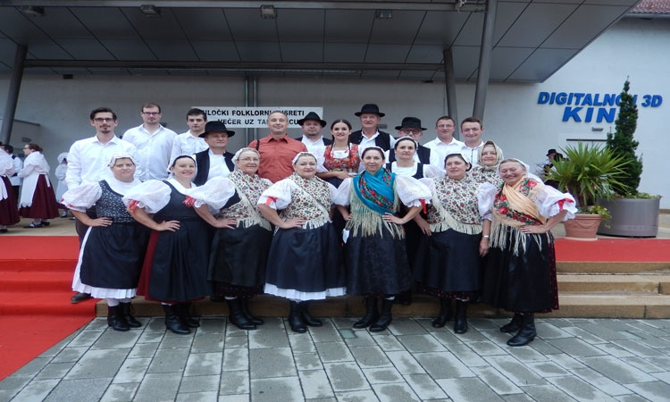 Folklore society Mihovljan in front of St. Blaise's Church