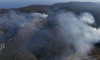 The fire bursts on the island of Korcula