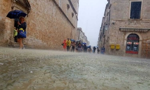 Flooded Dubrovnik