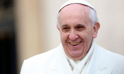 80th Birthday to the Pope with wooden glasses