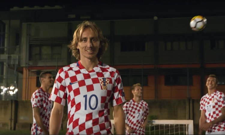 Luka Modric opens the new video