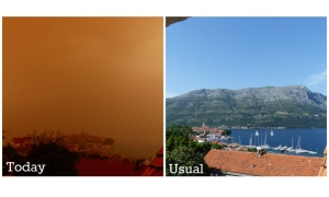 Korcula in the eye of the storm