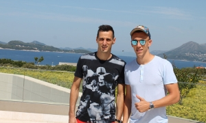 Nikola Kalinic and Ivan Perisic in Dubrovnik