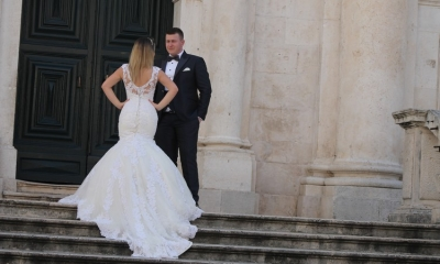 Reliving their big day in Dubrovnik