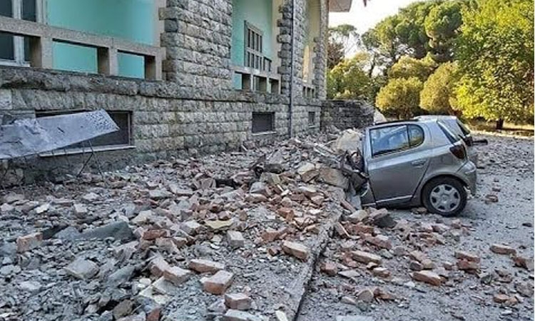 Earthquake damage in Albania