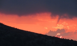PHOTO – Wacky weekend weather - sunset and twisters in Dubrovnik