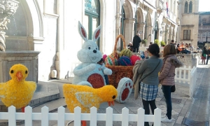Easter decorations in Dubrovnik