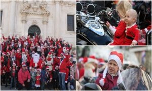 Photo Gallery – Santas on motorbikes bring holiday cheer to children