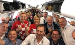 Croatian President on her way to Russia