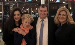 Croatian President takes husband to London as birthday present