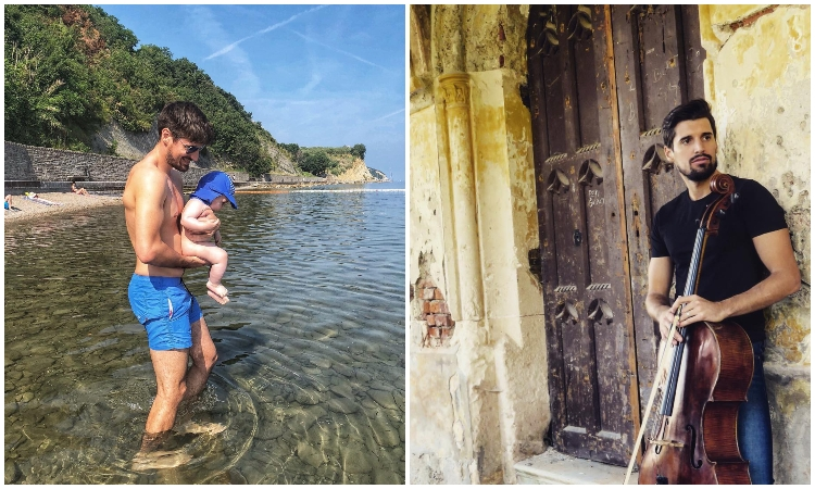 2 CELLOS JUNIOR - Luka Sulic's son takes a first swim