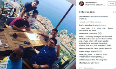 Manchester United player enjoying his time in Dubrovnik