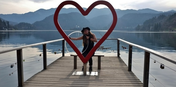 Lake Bled , Slovenia - Lauren Lucio and her loving hula hoop