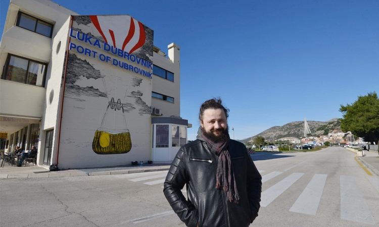 Milic leaves his mark on the Port of Dubrovnik
