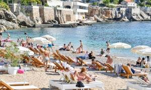 A Sunday on the beach in Dubrovnik as sunshine returns