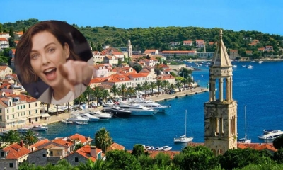 Charlize Theron spotted on the island of Hvar