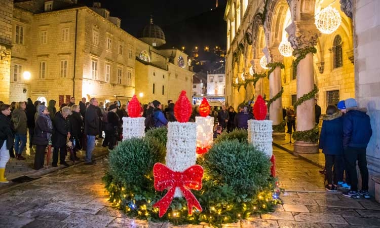 Advent lights in Dubrovnik