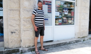 Stephan Behringer in front of Europe House Dubrovnik