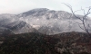 Snow covered mountains south of Dubrovnik as winter finally arrives