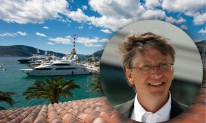 Bill Gates cruising on Adriatic