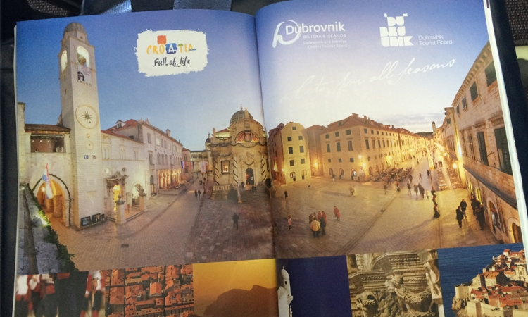 Dubrovnik features in Croatia Airlines magazine