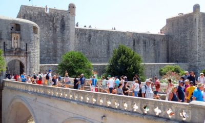 Busy August day in Dubrovnik