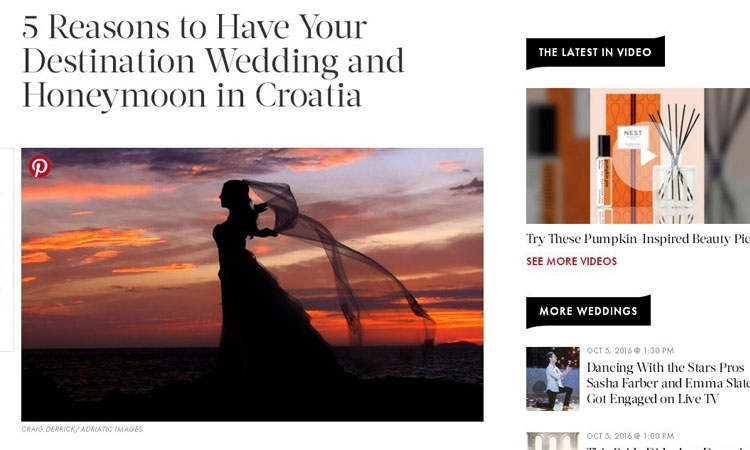 InStyle magazine recommends Croatia