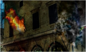 3D mapping projection as a reminder of the most severe attack on Dubrovnik
