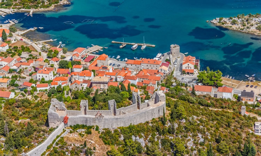 The stone walls of ston the dubrovnik times ston walls voltagebd Gallery