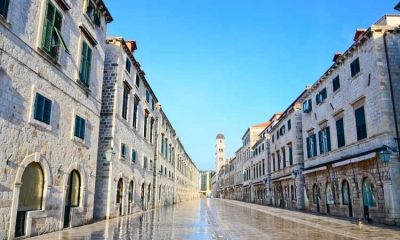 Stradun running through the heart of Dubrovnik