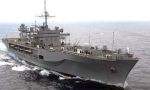 US Navy flagship undergoing maintenance in Croatia
