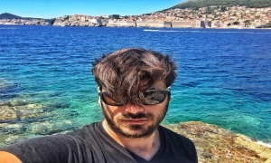 Stjepan Hauser from 2Cellos enjoys Dubrovnik
