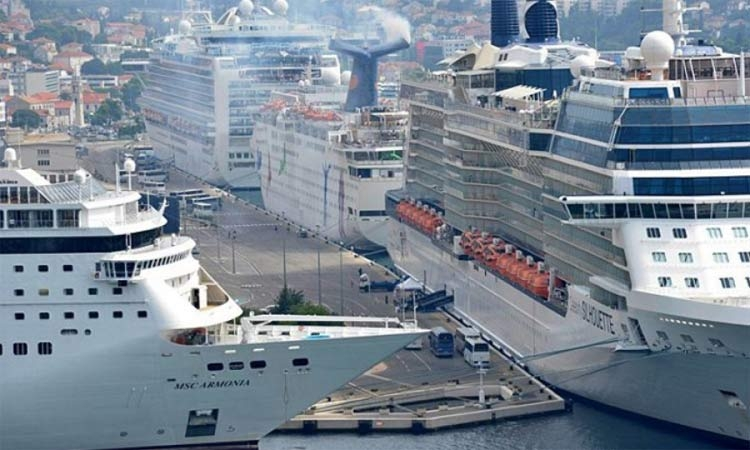 Less cruise ships than last year