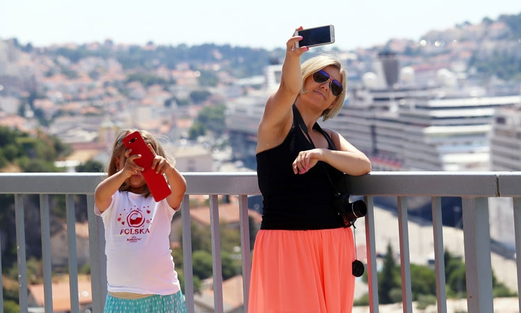 Double Selfie of Dubrovnik