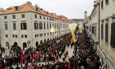 Packed Stradun for St. Blaise