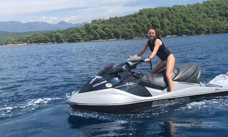 Ginger Spice enjoying active summer break in Croatia
