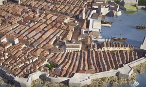 Dubrovnik earthquake in 3D animation