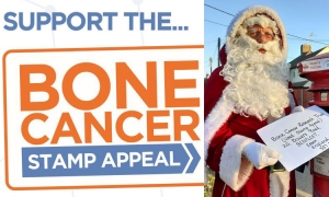 Collect your postage stamps to help bone cancer research this Christmas