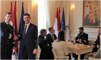 Captain of the Alizé ship meets with the Dubrovnik Mayor