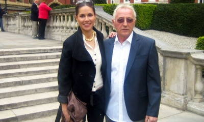 Blanka Pavlović with Oliver Dragojević in London