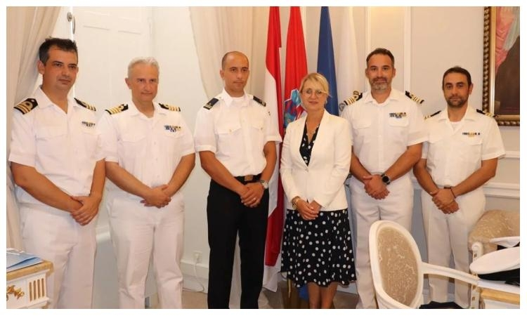 Rodos and Hydra navy ships with cadets visit Dubrovnik