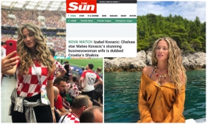 The Sun enchanted with beautiful Izabel Kovacic