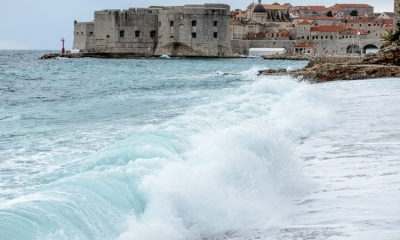 High seas in Dubrovnik