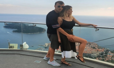 Famous footballer Vlad Chiricheș relaxes in Dubrovnik