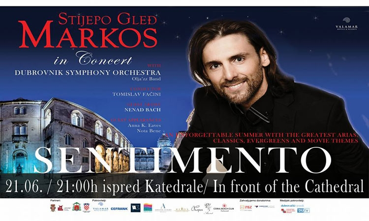 Magical concert 'Sentimento' tonight in front of the Cathedral