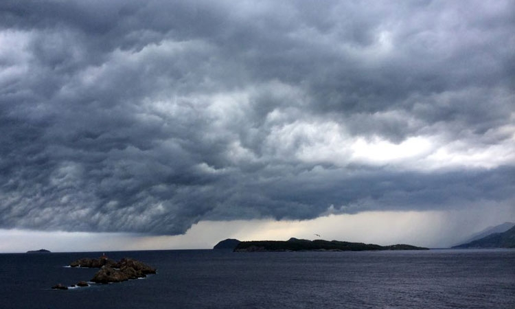 Heavy clouds over Dubrovnik